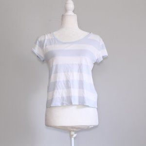 $5 Forever 21 Light Purple Striped T-Shirt Crop